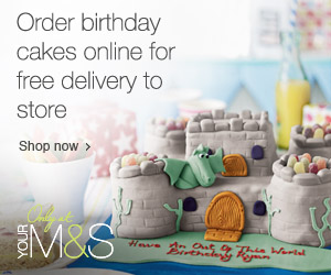 Order birthday cakes online from Marks and Spencer for free delivery to store