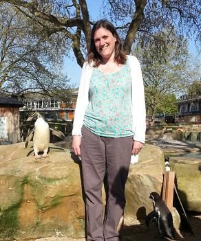 Me with the penguins!